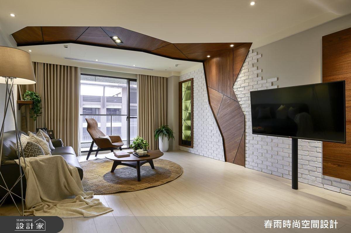 36坪新成屋(5年以下)_休閒風客廳案例圖片_春雨設計_春雨_01之4