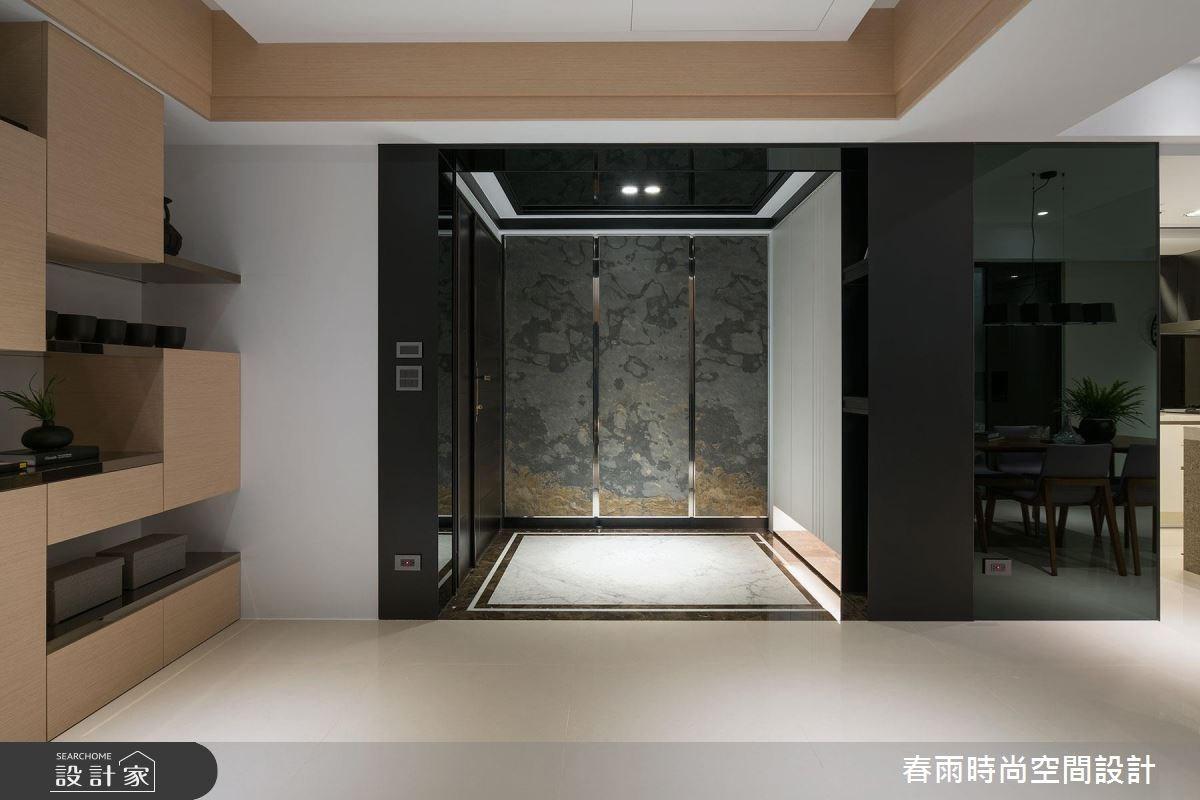 38坪新成屋(5年以下)_現代風玄關案例圖片_春雨設計_春雨_03之3