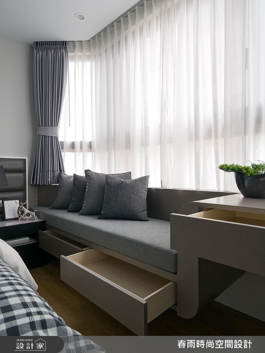 38坪新成屋(5年以下)_現代風臥室案例圖片_春雨設計_春雨_03之42