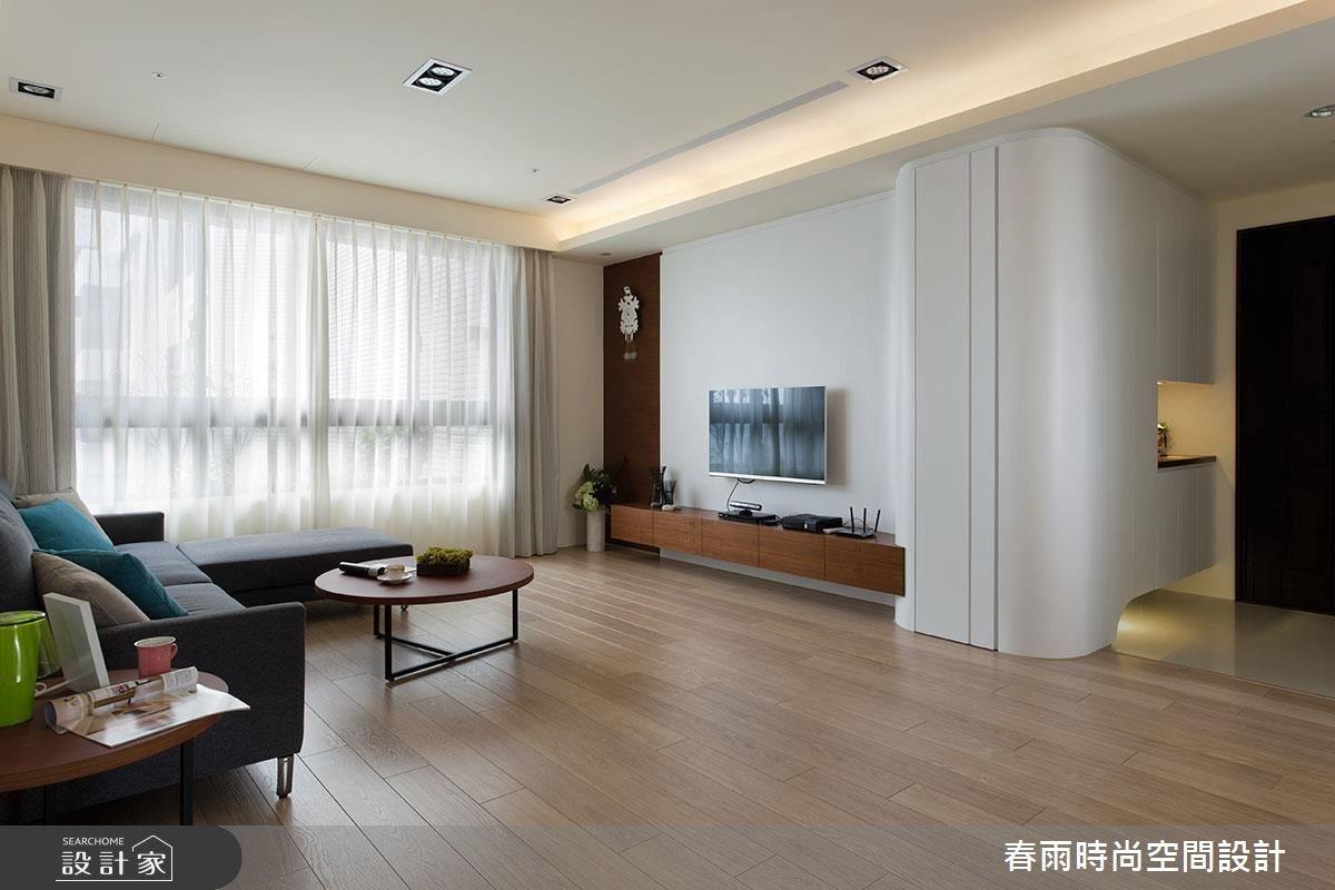 35坪新成屋(5年以下)_現代風客廳案例圖片_春雨設計_春雨_21之3