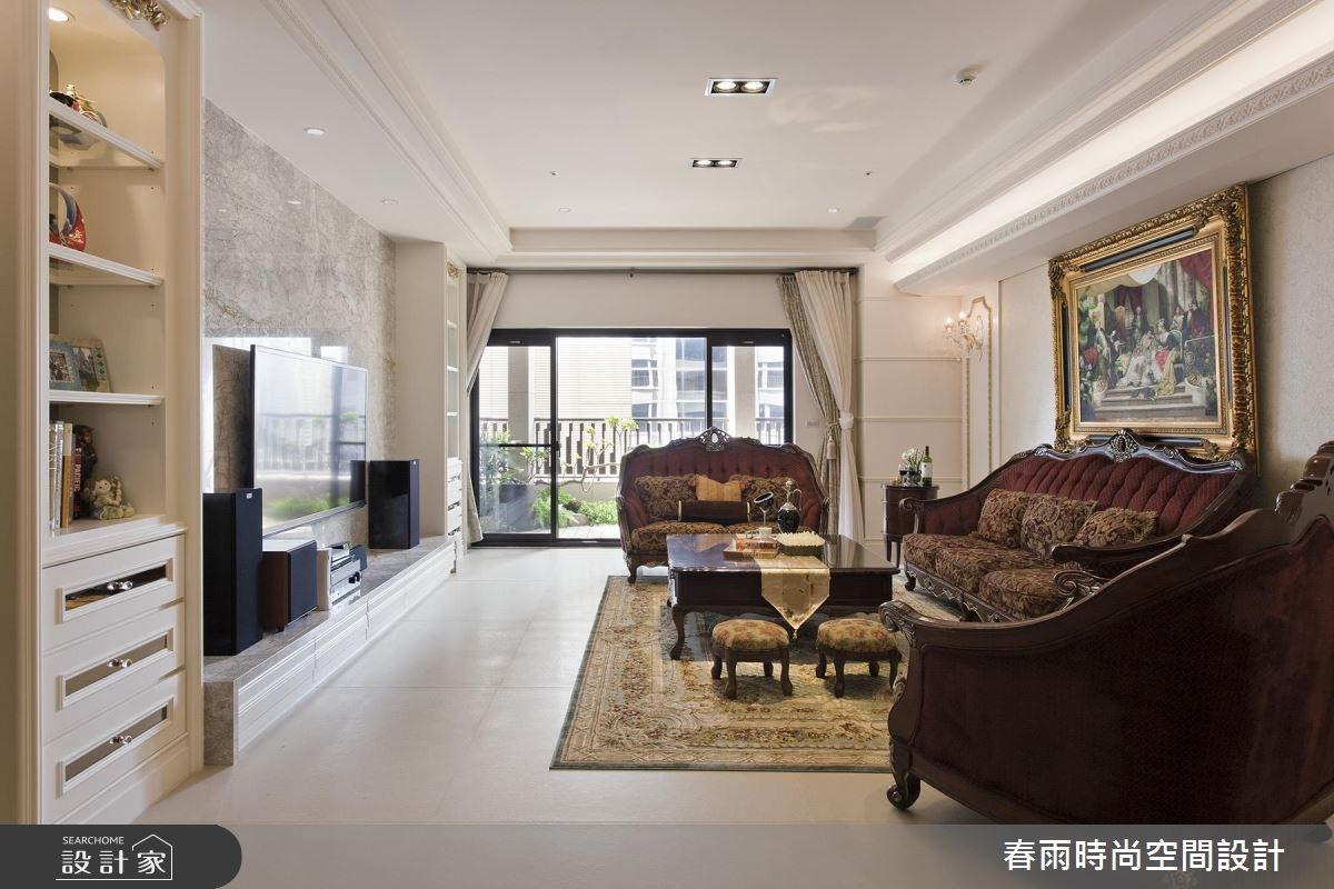 73坪新成屋(5年以下)_美式風客廳案例圖片_春雨設計_春雨_25之4