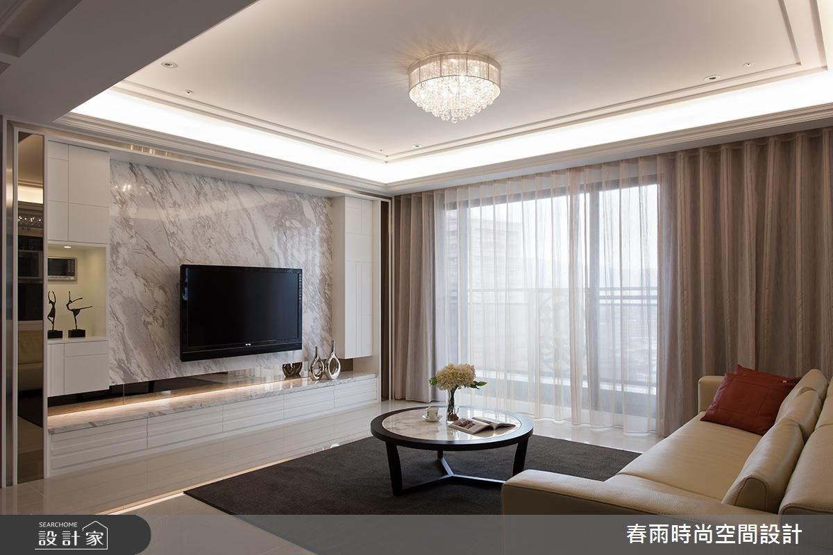50坪新成屋(5年以下)_新古典客廳案例圖片_春雨設計_春雨_28之4