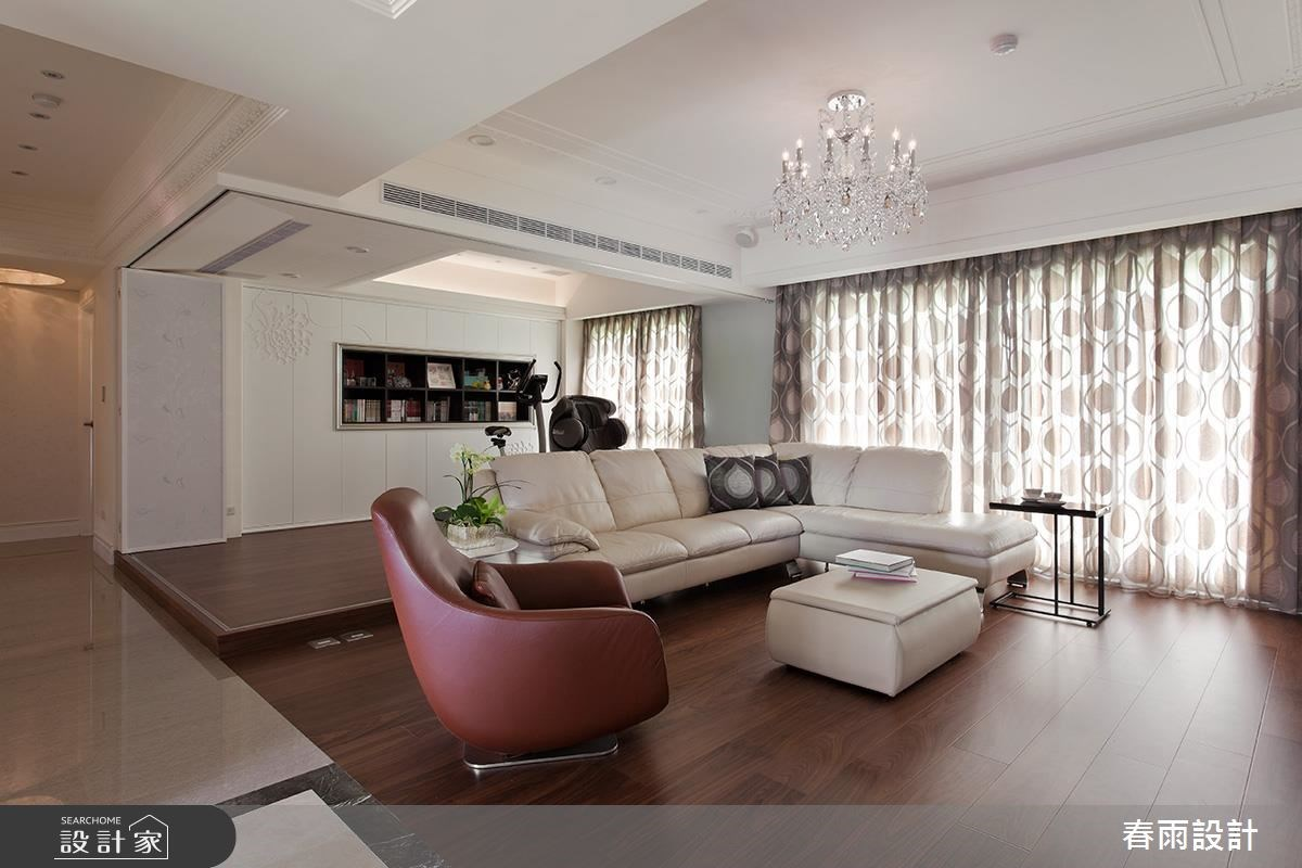 42坪新成屋(5年以下)_新古典客廳案例圖片_春雨設計_春雨_35之3