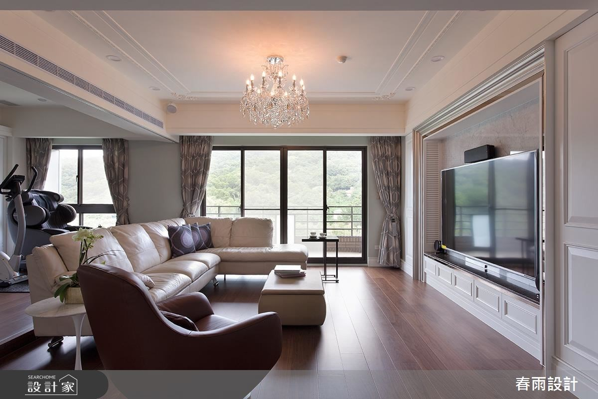 42坪新成屋(5年以下)_新古典客廳案例圖片_春雨設計_春雨_35之4