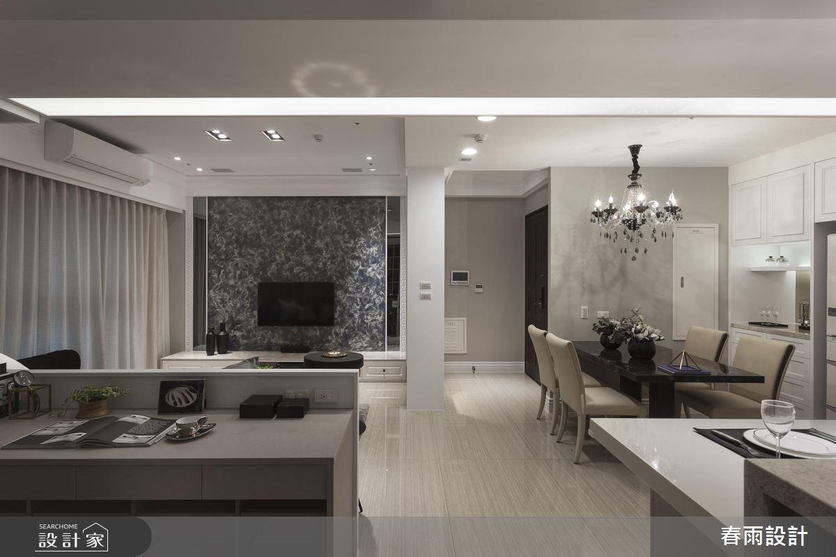31坪新成屋(5年以下)_混搭風客廳餐廳案例圖片_春雨設計_春雨_43之3