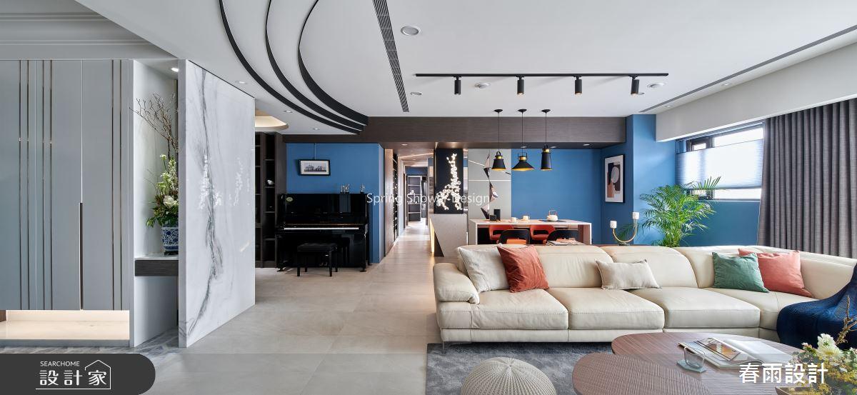 51坪預售屋_現代風客廳案例圖片_春雨設計_春雨_95之2