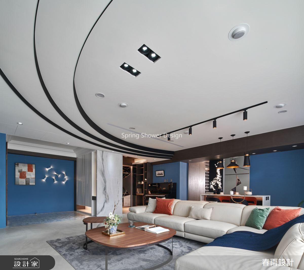 51坪預售屋_現代風客廳案例圖片_春雨設計_春雨_95之3