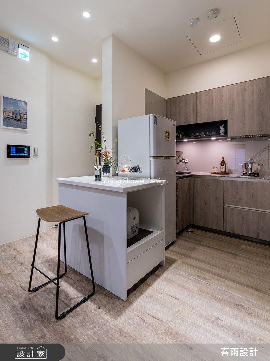 18坪新成屋(5年以下)_現代風廚房中島案例圖片_春雨設計_春雨_123之3