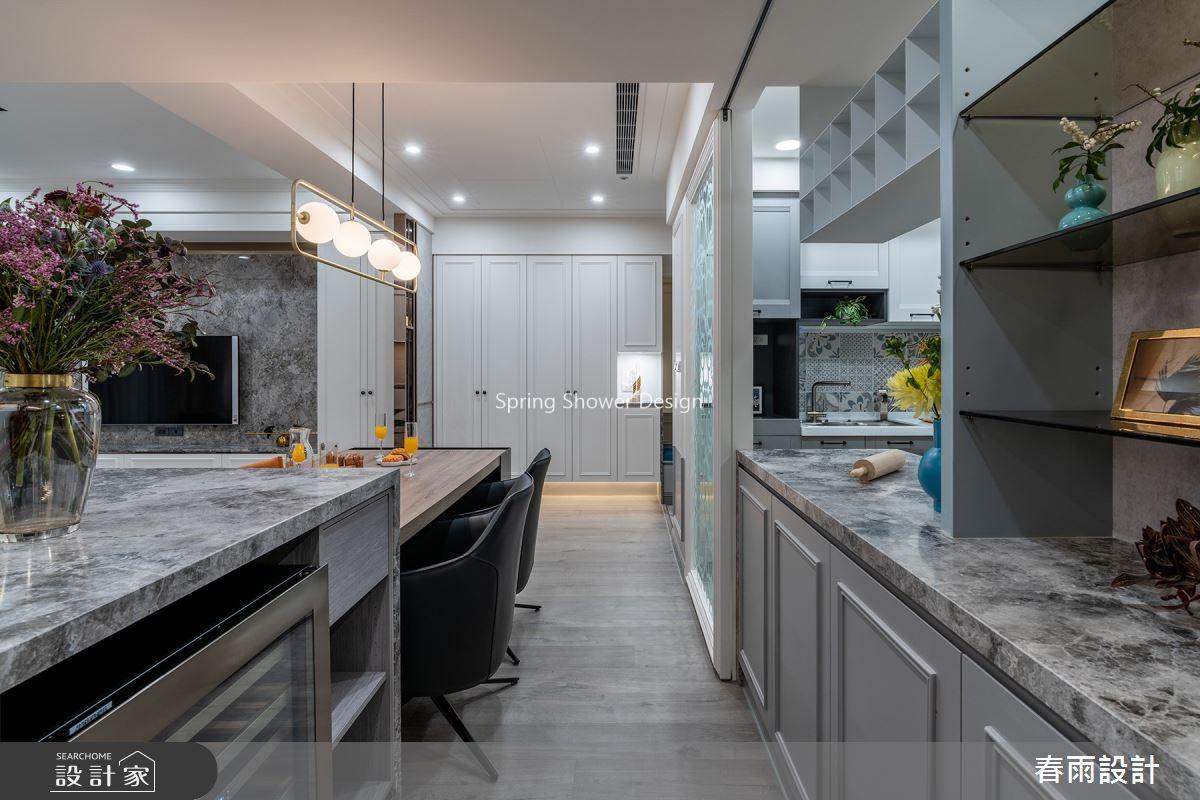 30坪中古屋(5~15年)_新古典餐廳廚房案例圖片_春雨設計_春雨_135之6
