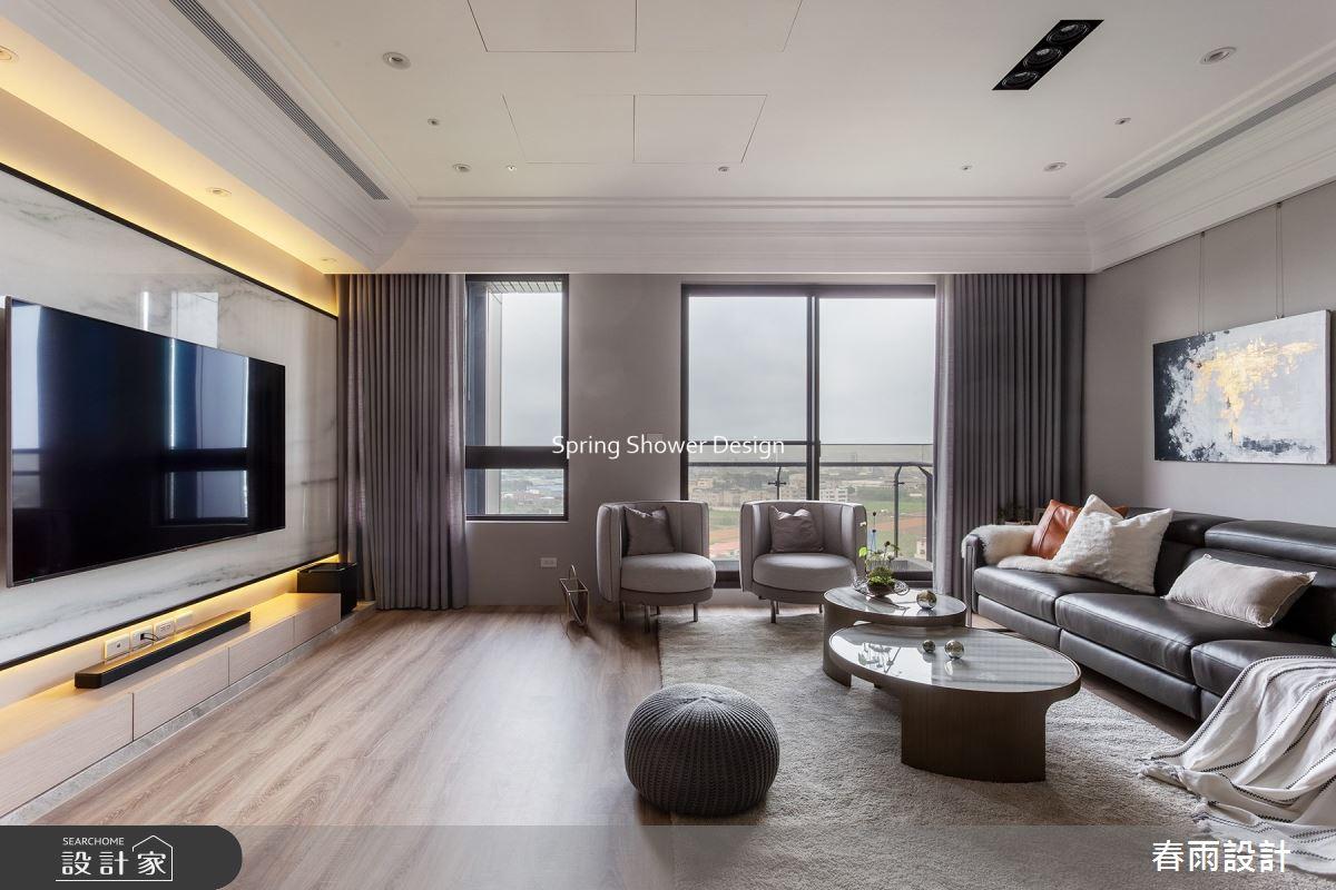 38坪新成屋(5年以下)_現代風客廳案例圖片_春雨設計_春雨_139之6