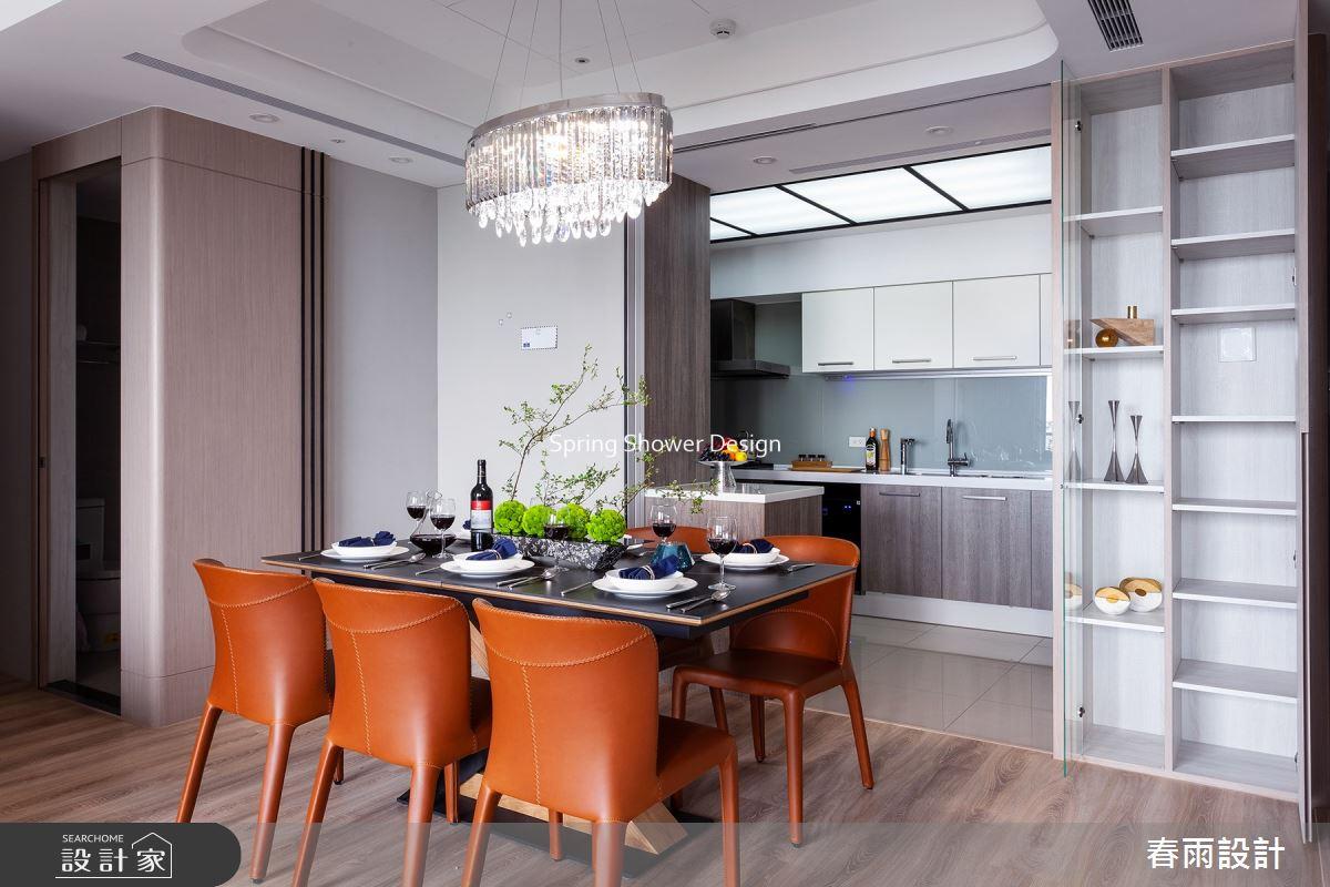 38坪新成屋(5年以下)_現代風餐廳廚房吧檯案例圖片_春雨設計_春雨_139之10
