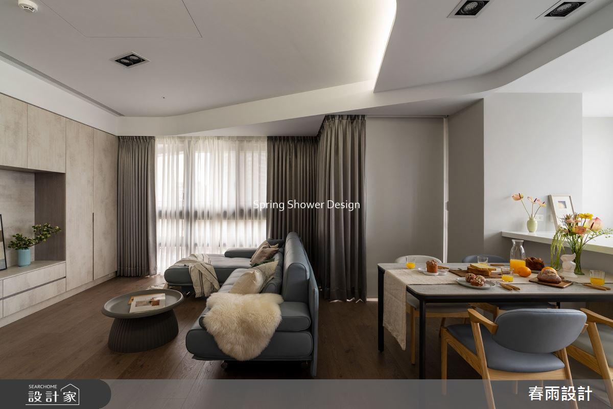 29坪新成屋(5年以下)_現代風客廳餐廳案例圖片_春雨設計_春雨_144之10