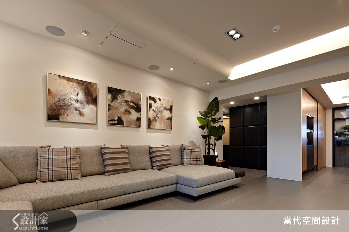 48坪新成屋(5年以下)_現代風客廳案例圖片_當代空間有限公司_當代_17之1