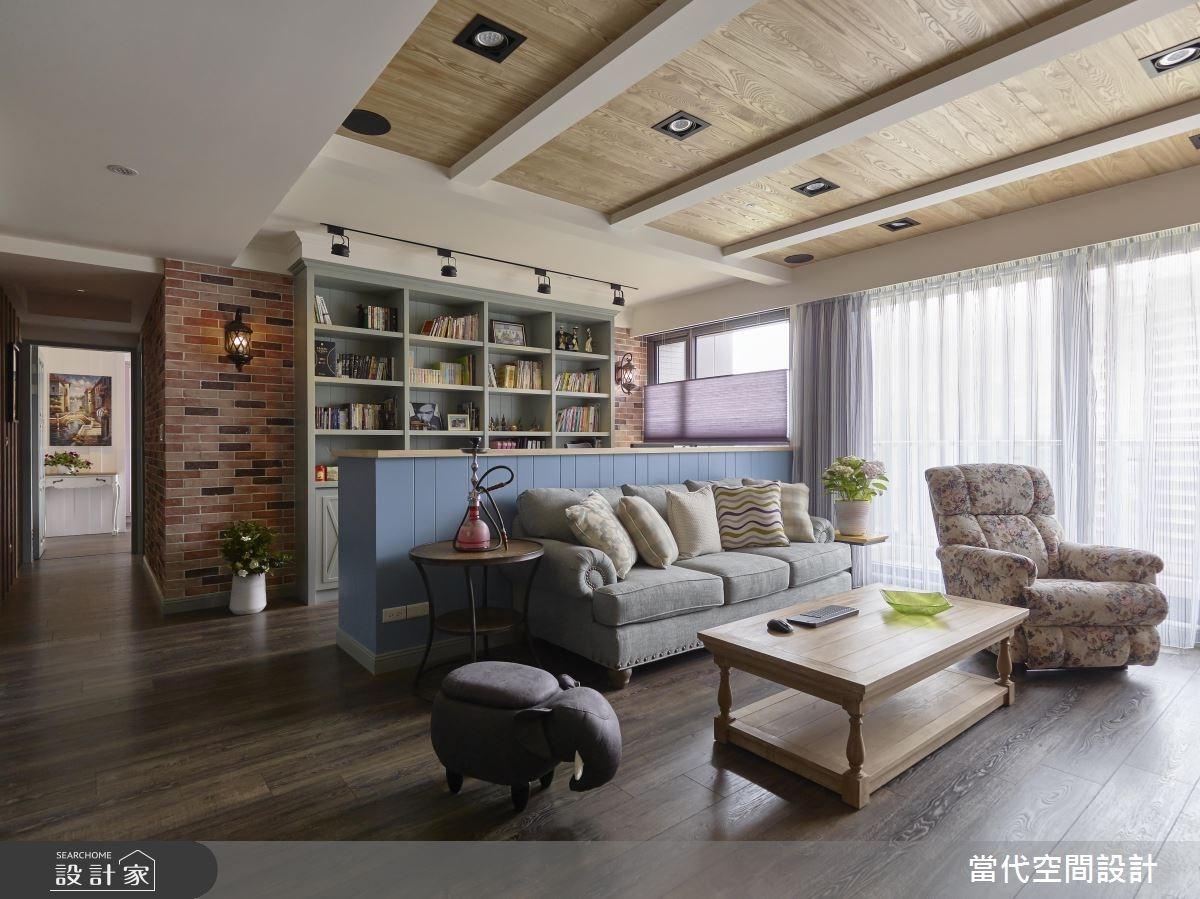 35坪新成屋(5年以下)_鄉村風客廳案例圖片_當代空間有限公司_當代_23之7