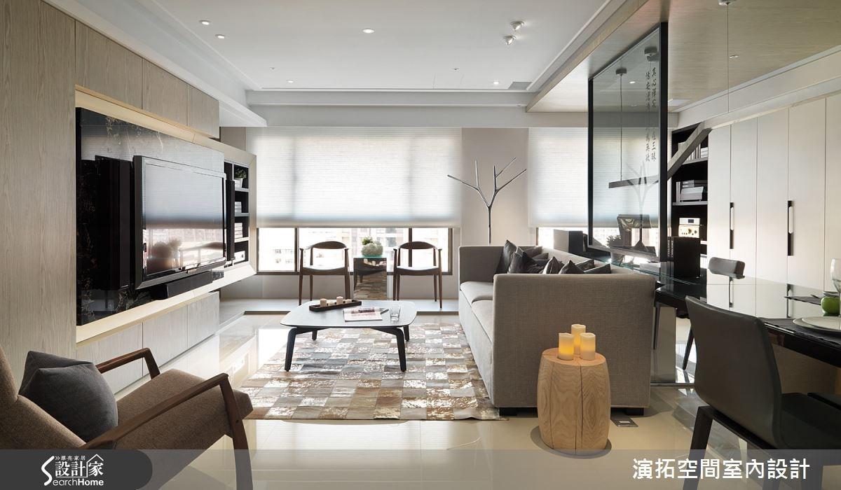 32坪新成屋(5年以下)_現代風客廳案例圖片_演拓空間室內設計_演拓_58之8