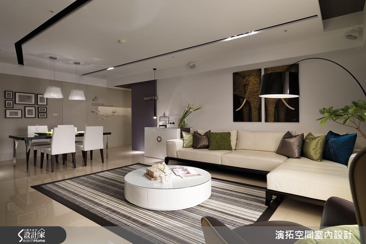 52坪新成屋(5年以下)_現代風客廳案例圖片_演拓空間室內設計_演拓_60之5