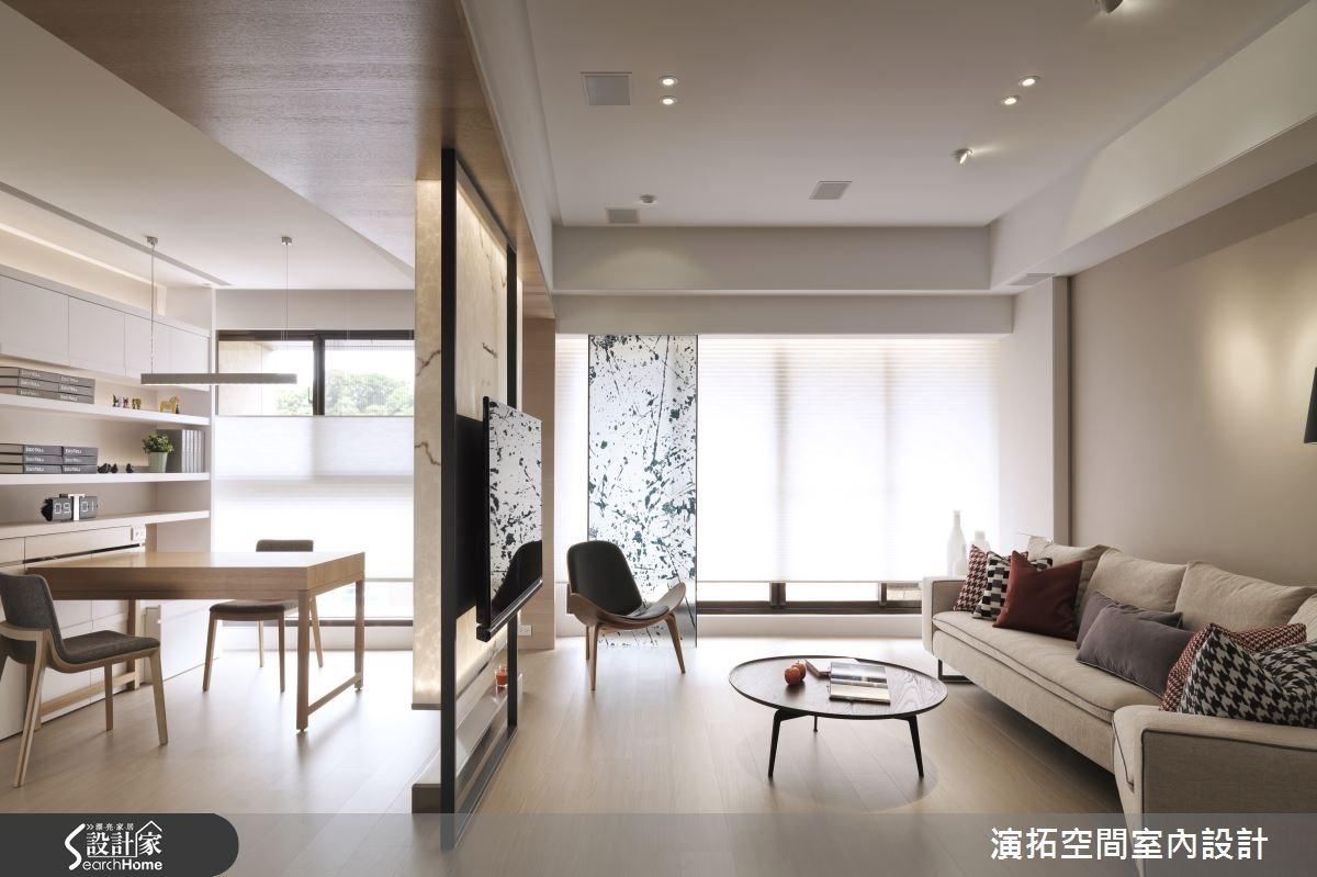 35坪新成屋(5年以下)_休閒風客廳案例圖片_演拓空間室內設計_演拓_61之3