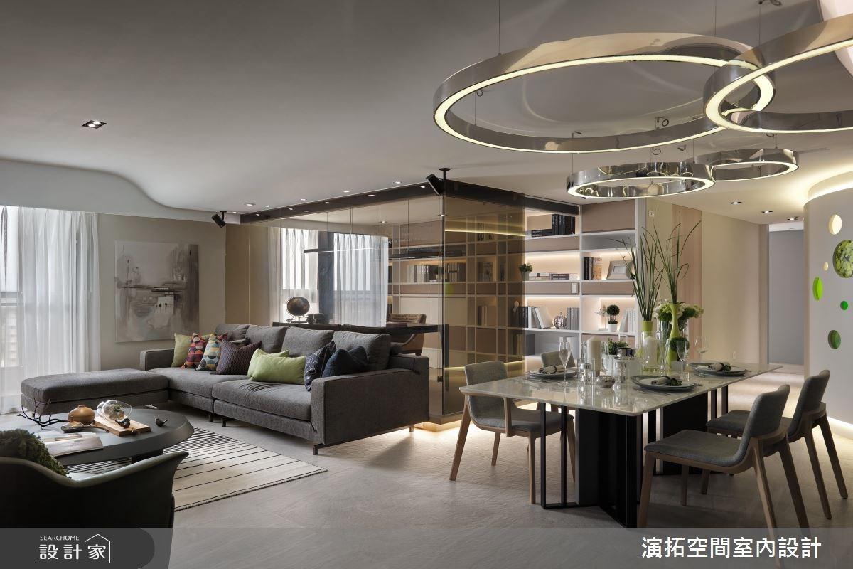 43坪預售屋_現代風客廳餐廳案例圖片_演拓空間室內設計_演拓_72之2