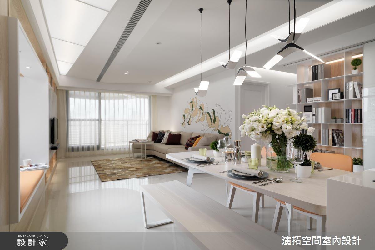 36坪新成屋(5年以下)_現代風餐廳案例圖片_演拓空間室內設計_演拓_73之3