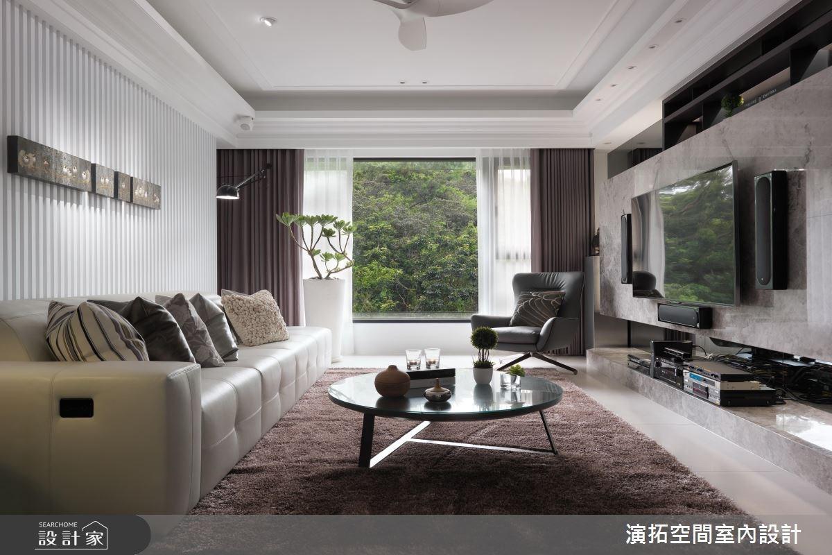 35坪新成屋(5年以下)_新古典客廳案例圖片_演拓空間室內設計_演拓_77之2