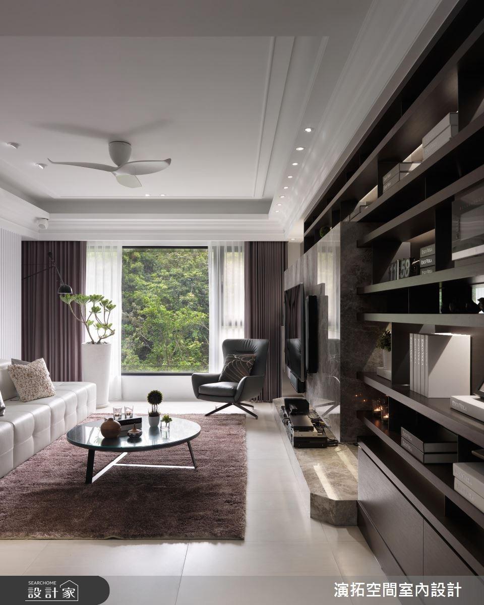 35坪新成屋(5年以下)_新古典客廳案例圖片_演拓空間室內設計_演拓_77之3