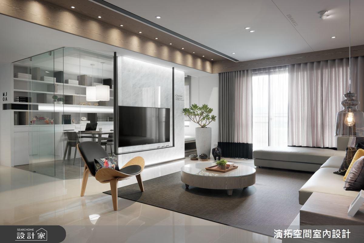 45坪新成屋(5年以下)_簡約風客廳案例圖片_演拓空間室內設計_演拓_79之5