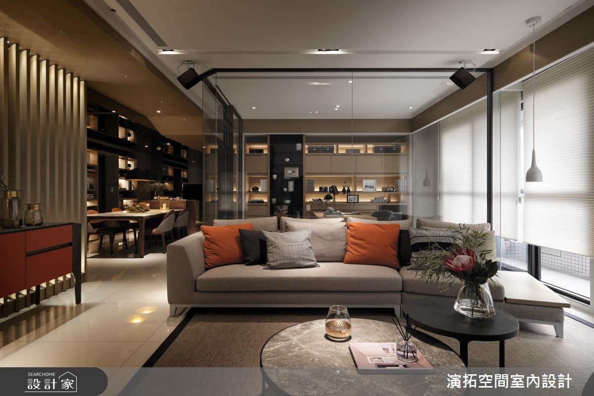 80坪新成屋(5年以下)_現代風客廳案例圖片_演拓空間室內設計_演拓_84之4