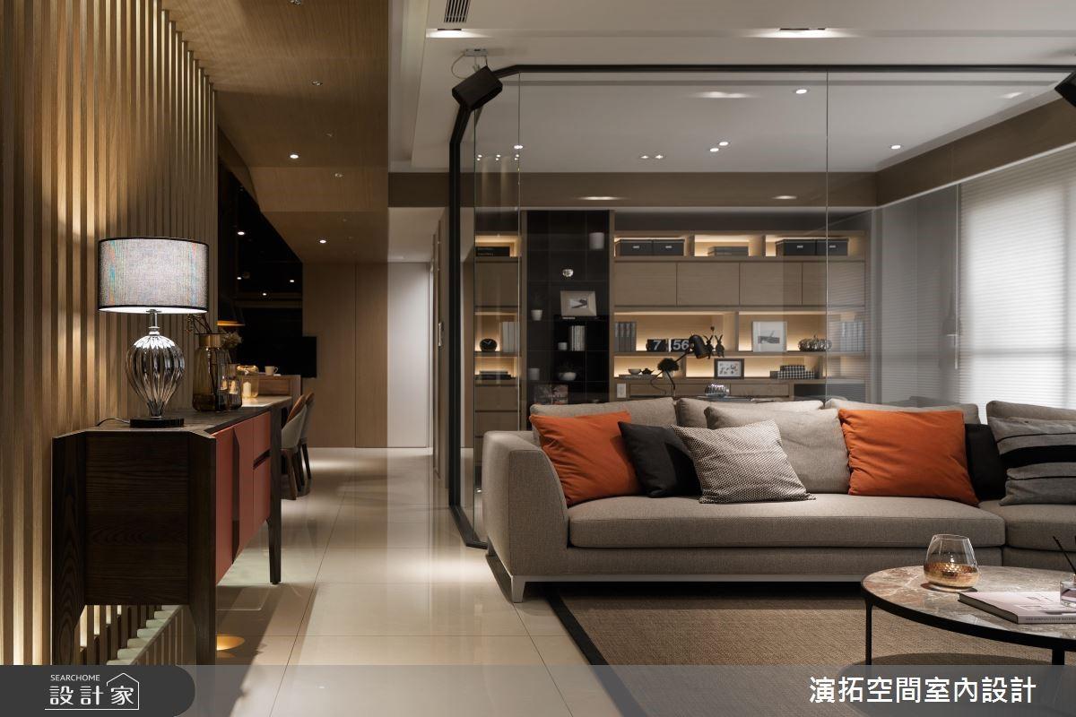 80坪新成屋(5年以下)_現代風客廳案例圖片_演拓空間室內設計_演拓_84之2