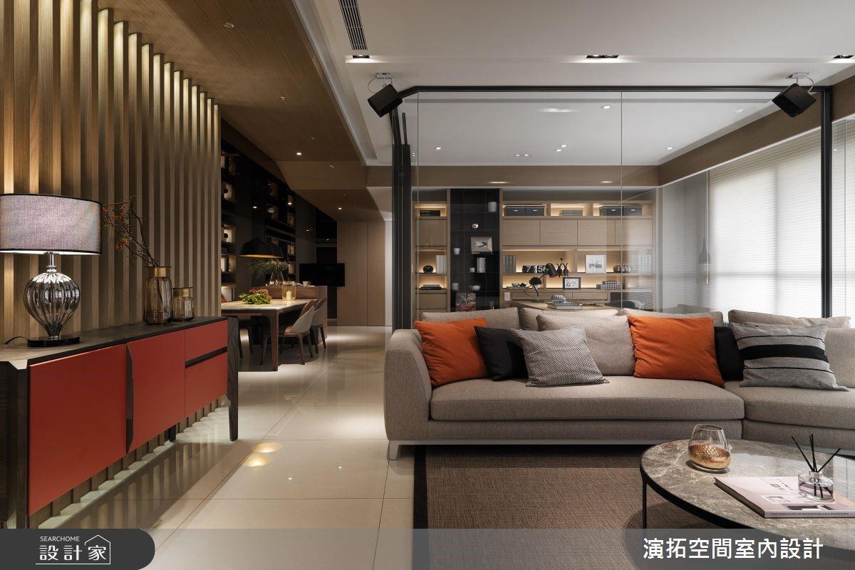 80坪新成屋(5年以下)_現代風客廳案例圖片_演拓空間室內設計_演拓_84之3
