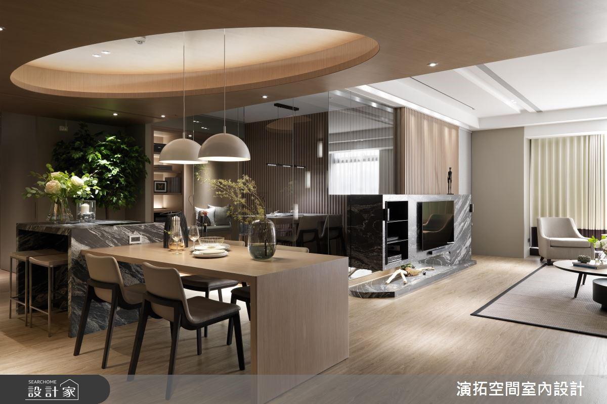 62坪新成屋(5年以下)_現代風餐廳案例圖片_演拓空間室內設計_演拓_87之3