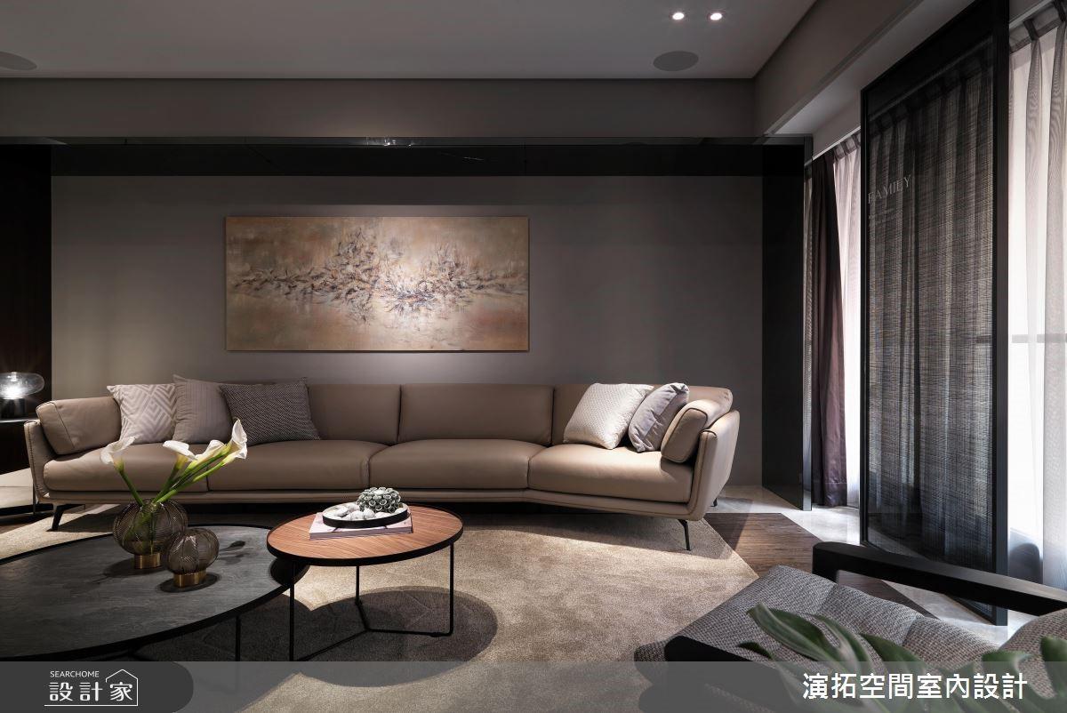 60坪新成屋(5年以下)_現代風客廳案例圖片_演拓空間室內設計_演拓_88之3