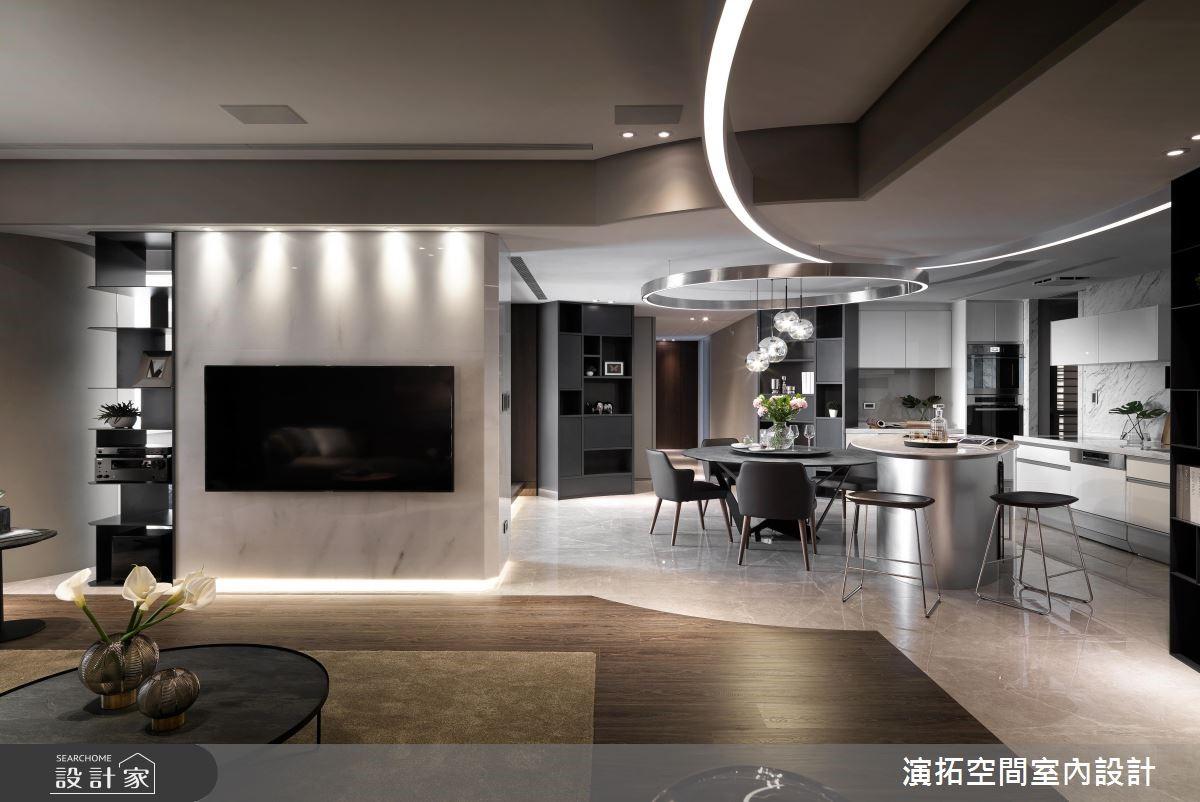 60坪新成屋(5年以下)_現代風客廳餐廳案例圖片_演拓空間室內設計_演拓_88之4