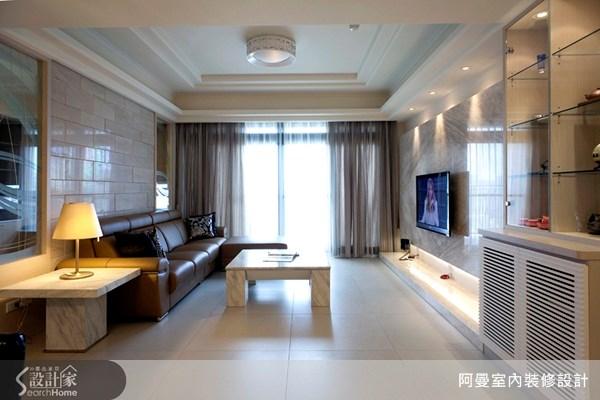 36坪新成屋(5年以下)_現代風客廳案例圖片_阿曼空間設計_阿曼_10之6