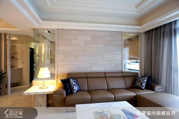 36坪新成屋(5年以下)_現代風客廳案例圖片_阿曼空間設計_阿曼_10之8