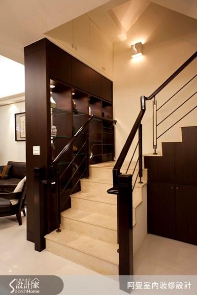 60坪新成屋(5年以下)_混搭風樓梯案例圖片_阿曼空間設計_阿曼_11之7