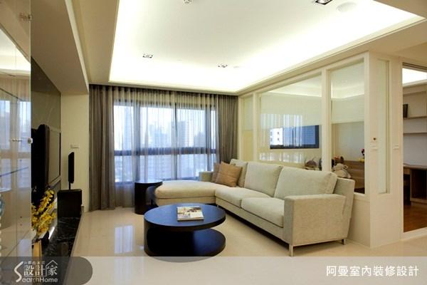 30坪新成屋(5年以下)_現代風客廳案例圖片_阿曼空間設計_阿曼_13之1