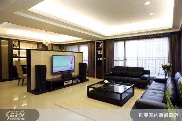 50坪新成屋(5年以下)_現代風客廳案例圖片_阿曼空間設計_阿曼_14之1