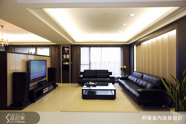 50坪新成屋(5年以下)_現代風客廳案例圖片_阿曼空間設計_阿曼_14之3