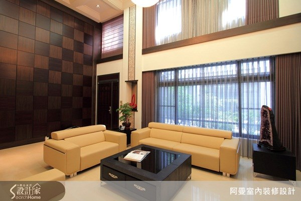 150坪預售屋_奢華風客廳案例圖片_阿曼空間設計_阿曼_18之1