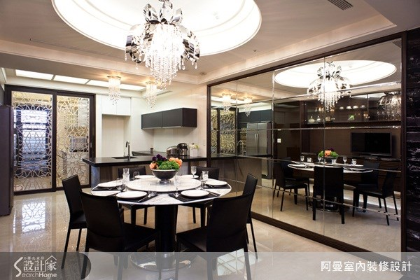 58坪新成屋(5年以下)_現代風餐廳案例圖片_阿曼空間設計_阿曼_22之1