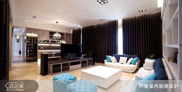 46坪預售屋_混搭風客廳案例圖片_阿曼空間設計_阿曼_23之2