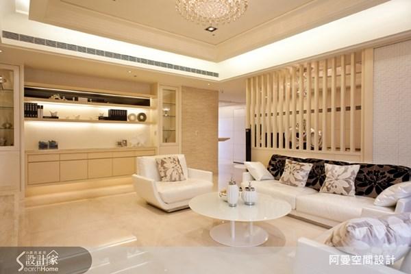 66坪預售屋_奢華風客廳案例圖片_阿曼空間設計_阿曼_28之6