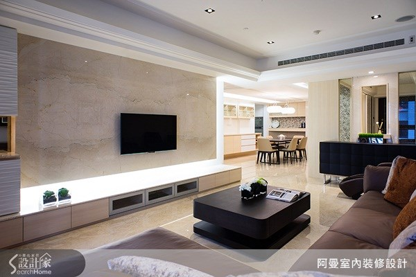 47坪新成屋(5年以下)_奢華風客廳案例圖片_阿曼空間設計_阿曼_29之4