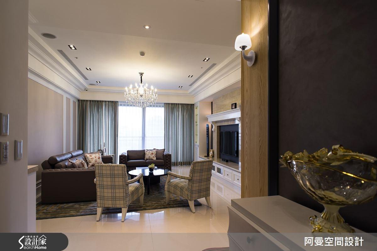 60坪新成屋(5年以下)_鄉村風客廳案例圖片_阿曼空間設計_阿曼_31之2