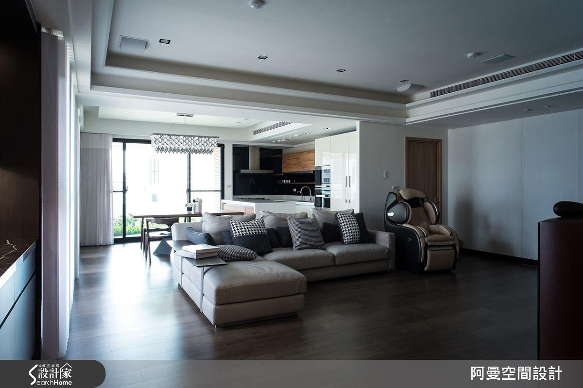 52坪新成屋(5年以下)_現代風客廳案例圖片_阿曼空間設計_阿曼_32之2
