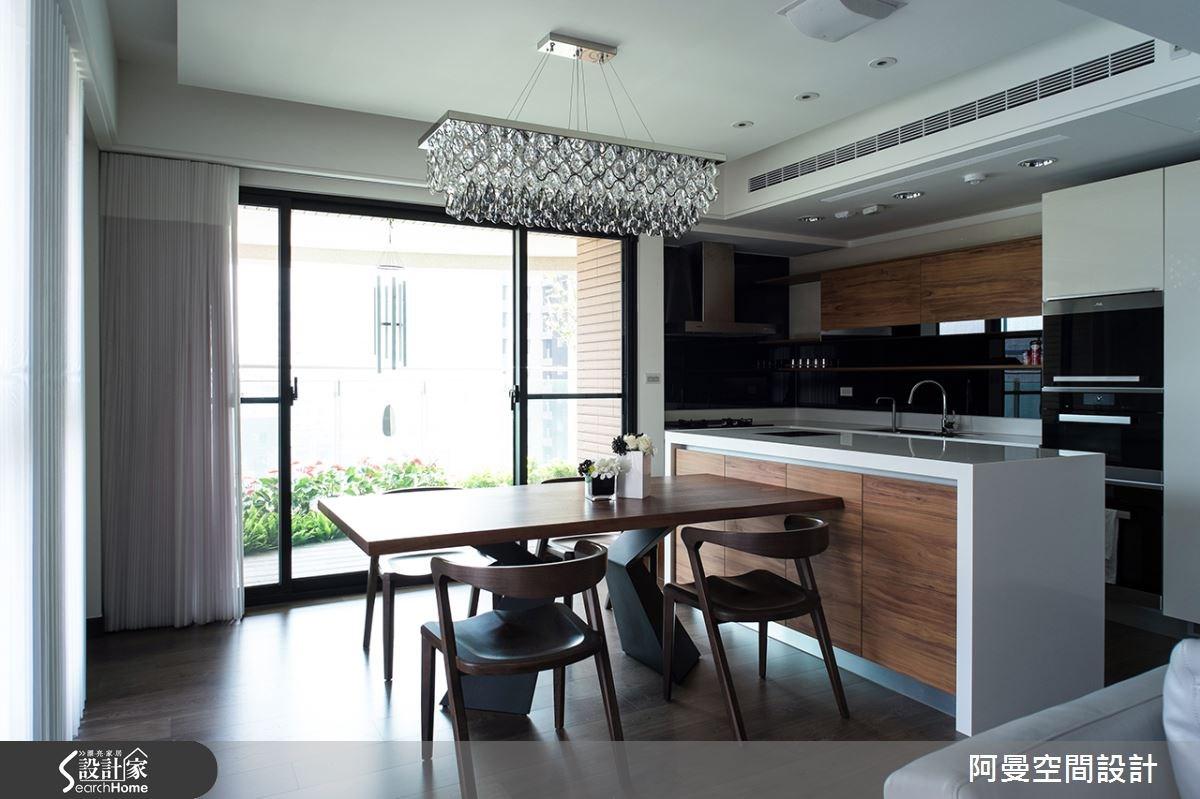 52坪新成屋(5年以下)_現代風餐廳廚房案例圖片_阿曼空間設計_阿曼_32之7