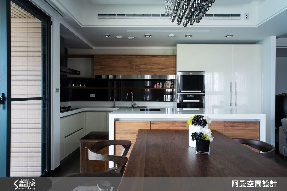 52坪新成屋(5年以下)_現代風餐廳廚房案例圖片_阿曼空間設計_阿曼_32之8