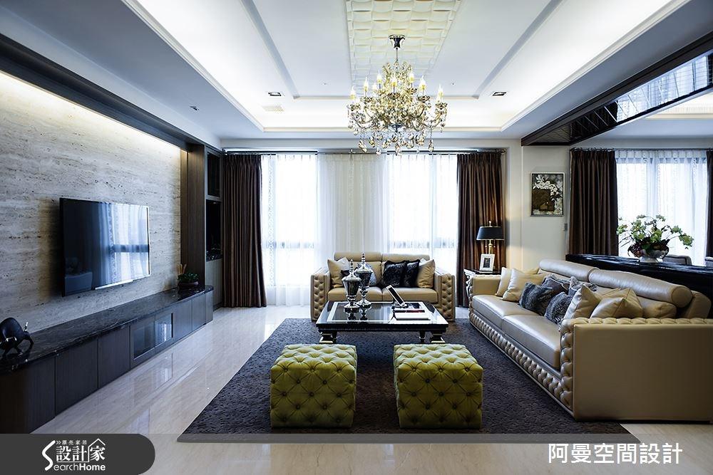 50坪新成屋(5年以下)_奢華風客廳案例圖片_阿曼空間設計_阿曼_33之4