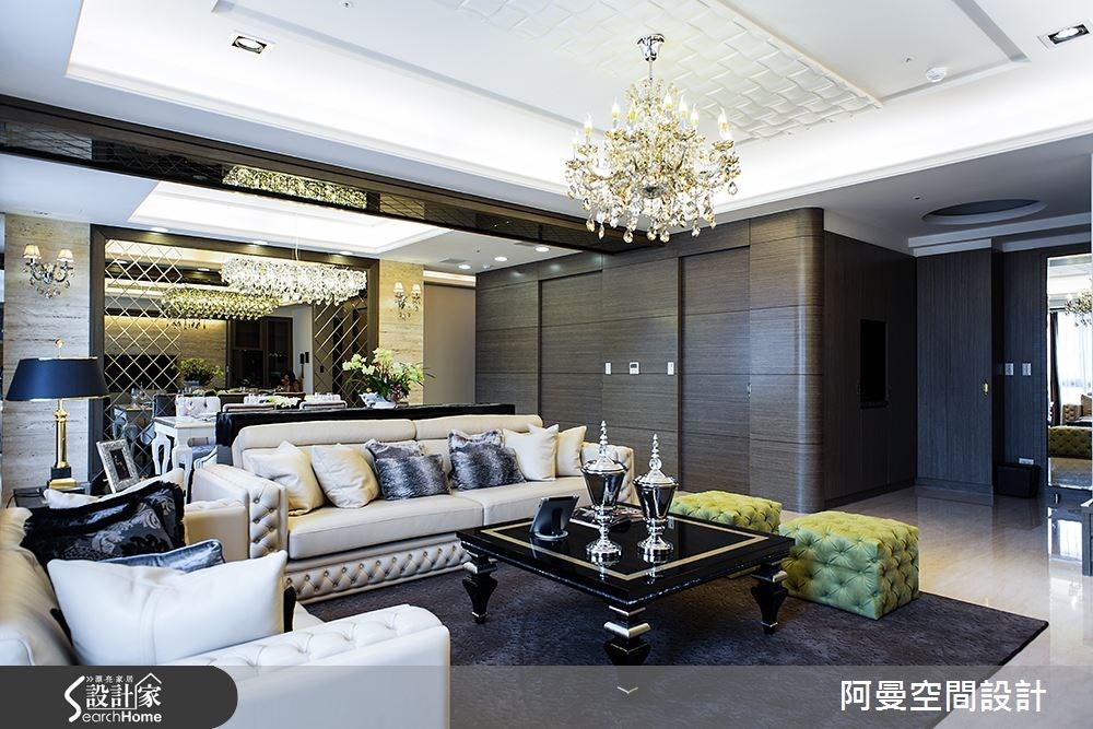 50坪新成屋(5年以下)_奢華風客廳案例圖片_阿曼空間設計_阿曼_33之5
