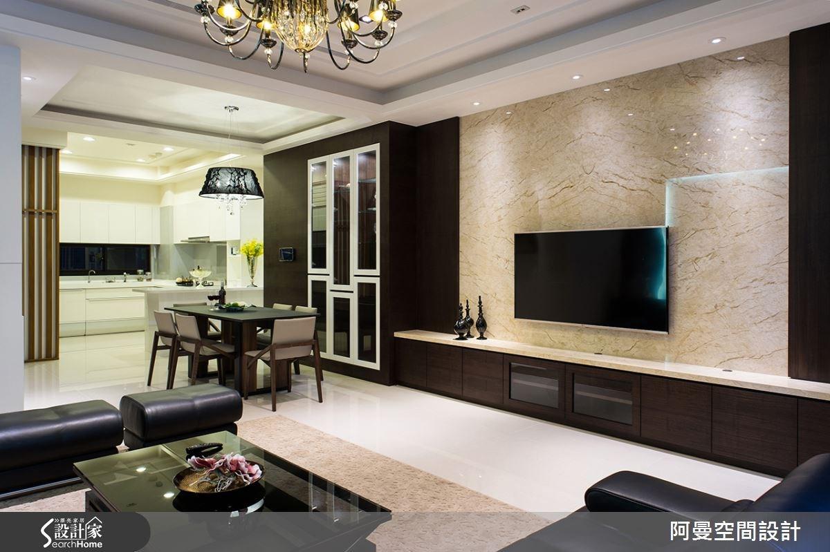 85坪_現代風客廳案例圖片_阿曼空間設計_阿曼_34之2